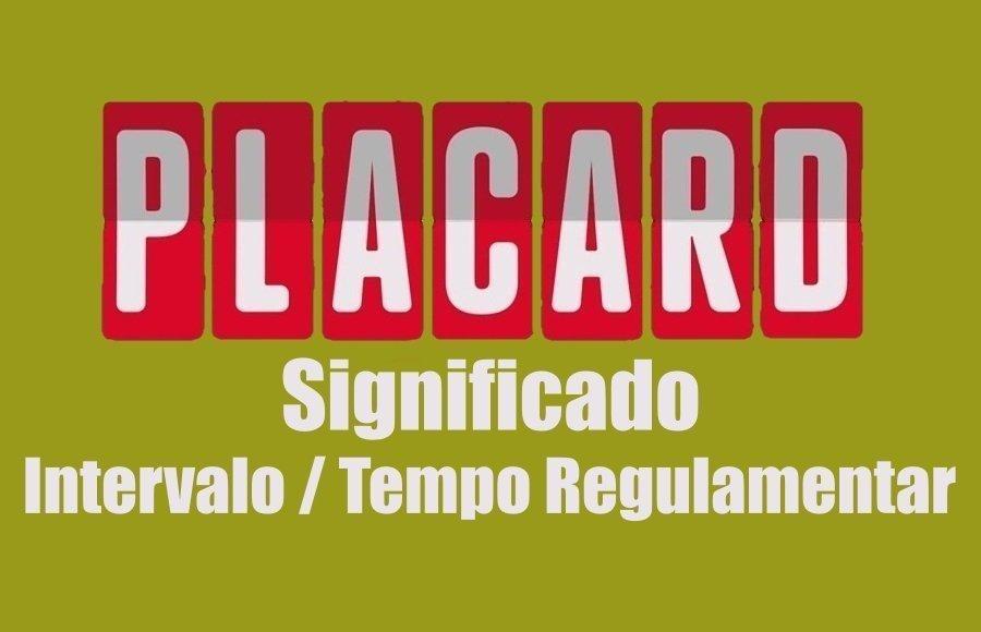 Aposta Intervalo / Tempo Regulamentar Placard