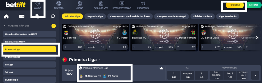 Assistir jogo Benfica vs Porto Online em HD Grátis