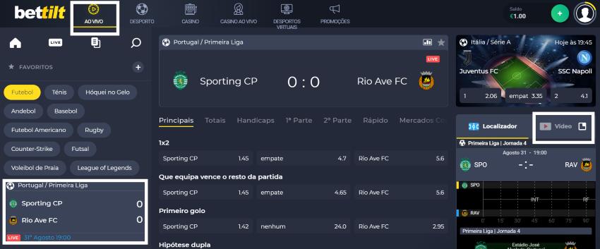 Assistir jogo Sporting vs Rio Ave Online em HD Grátis