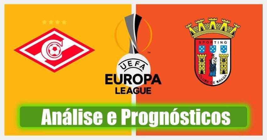 Spartak Moscovo – Braga – Liga Europa – Análise e Prognósticos