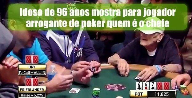 Idoso de 96 anos mostra para jogador arrogante de poker quem é o chefe