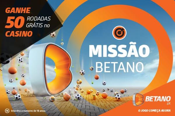 Missão: aposte para ganhar 50 Rodadas Grátis