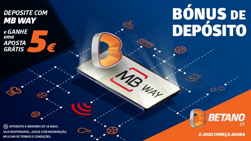 Experimenta o MB WAY na Betano e ganha uma aposta de 5 euros