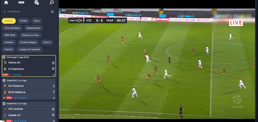 Vitória SC Marítimo online: assistir ao jogo, ao vivo e grátis