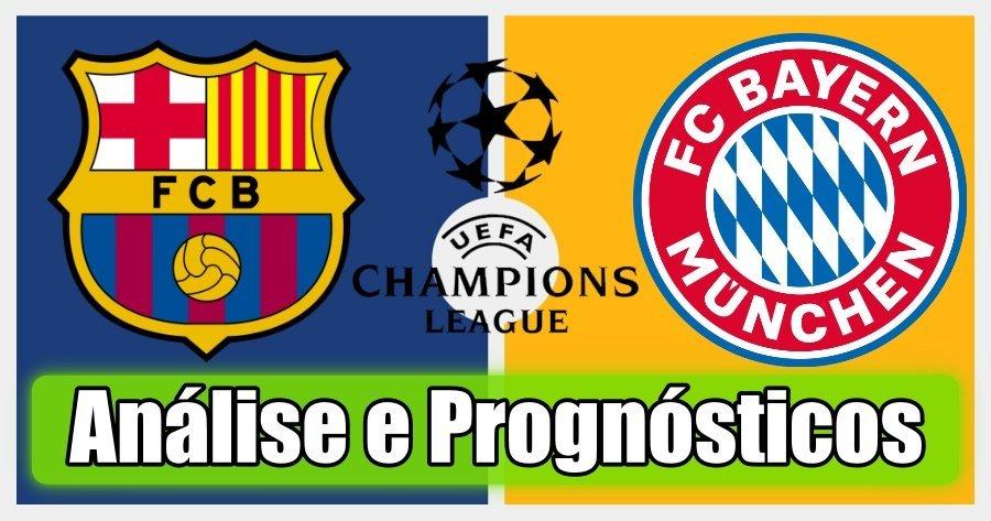 Barcelona vs Bayern Munique – Análise e Prognósticos – Liga dos Campeões