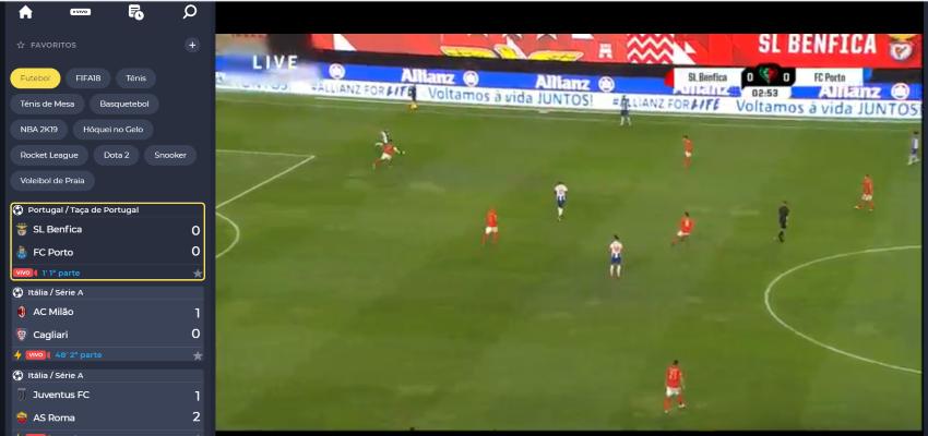 Benfica vs Porto online - Final da Taça de Portugal - Assistir ao jogo, ao vivo e grátis