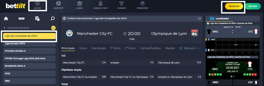 Manchester City vs Lyon online assistir ao jogo grátis