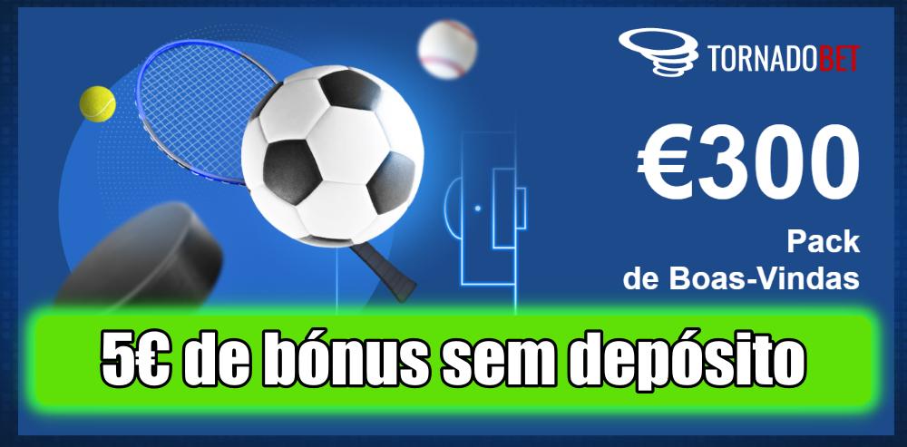 Recebe 5€ sem depósito na TornadoBet ao usares o código exclusivo AEM5