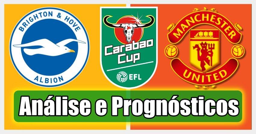 Brighton vs Manchester Utd - Análise e Prognósticos – Taça da Liga Inglaterra