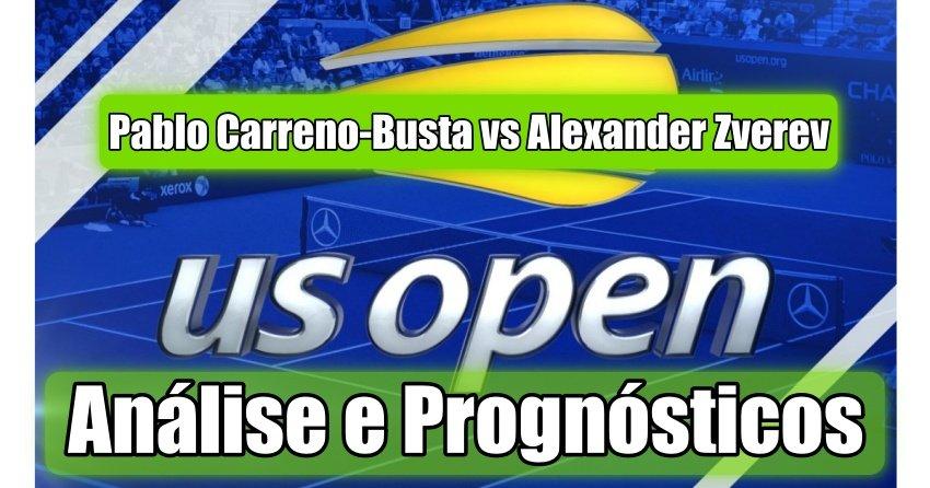 Pablo Carreno-Busta vs Alexander Zverev -  Análise e Prognósticos - US Open 2020