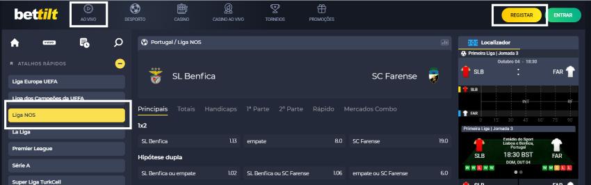 Assistir Benfica Farense: assiste ao jogo online e grátis