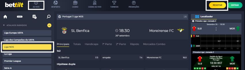 Assistir Benfica Moreirense: assiste ao jogo online e grátis