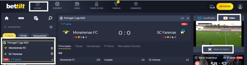 Assistir Moreirense Farense: assiste ao jogo online e grátis