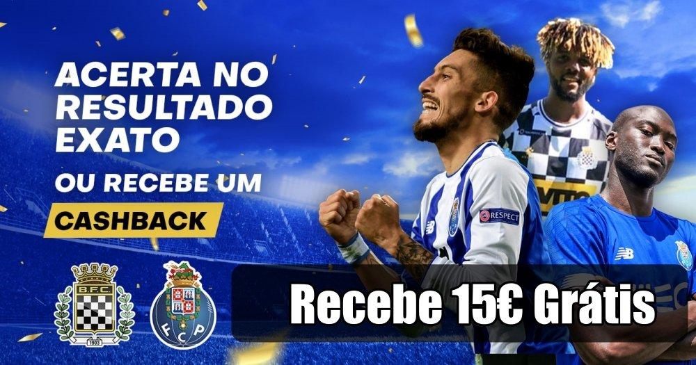 Aposta no Resultado exato do jogo Boavista Porto e 15€ Grátis!