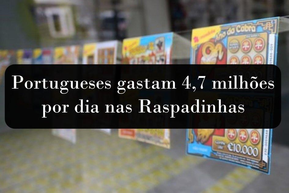 Raspadinhas – Portugueses gastam 4,7 milhões por dia