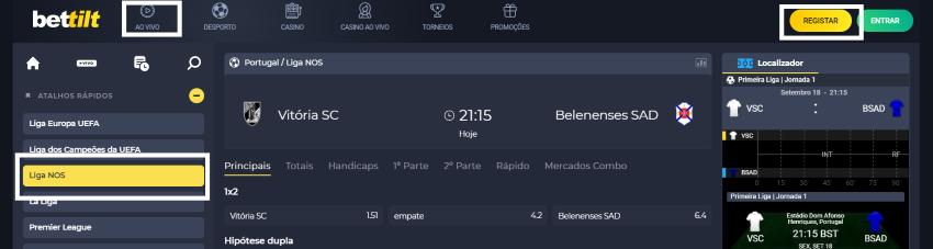 Assistir Vitória SC Belenenses: assiste ao jogo online e grátis