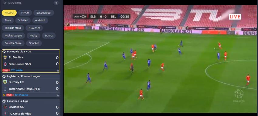 Como assistir ao Benfica Belenenses online, ao vivo e grátis