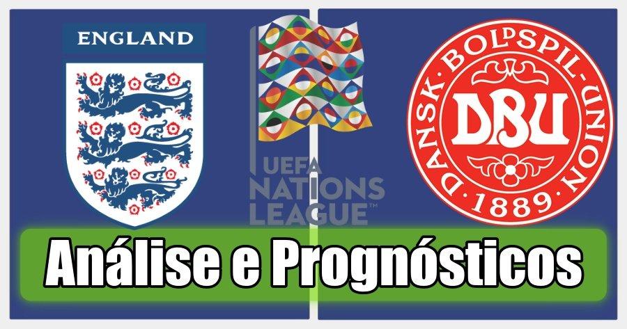 Inglaterra vs Dinamarca – Análise e Prognósticos – Liga das Nações