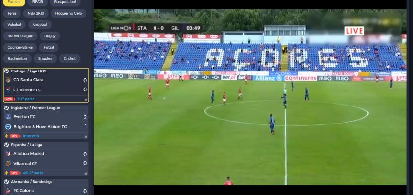Assistir Santa Clara Benfica online, grátis e com excelente qualidade