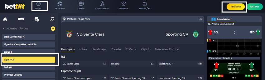 Assistir Santa Clara Sporting assiste ao jogo online e grátis