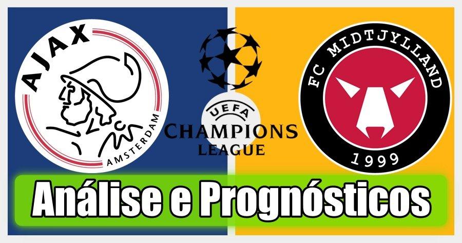 Ajax vs Midtjylland – Análise e Prognósticos – Liga dos Campeões