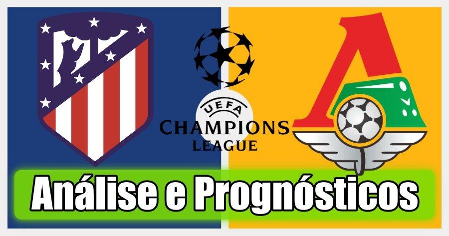 Atlético Madrid vs Lokomotiv Moscovo – Análise e Prognósticos – Liga dos Campeões
