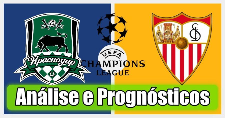 Krasnodar vs Sevilla – Análise e Prognósticos – Liga dos Campeões