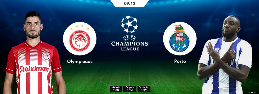 Olympiakos vs FC Porto – Análise e Prognósticos – Liga dos Campeões