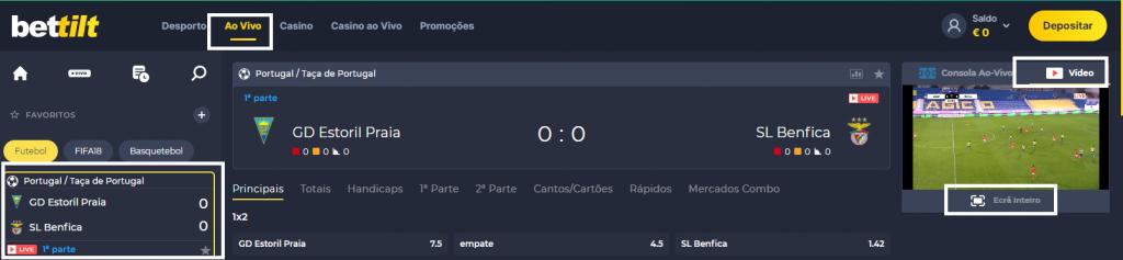 Assistir Estoril Benfica online grátis e com excelente qualidade