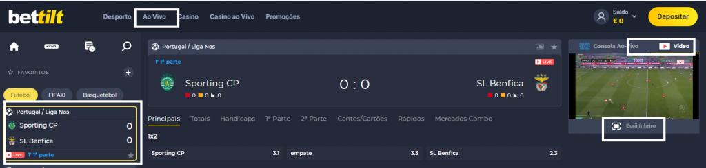 Sporting vs Benfica - Como assistir ao jogo ao vivo grátis