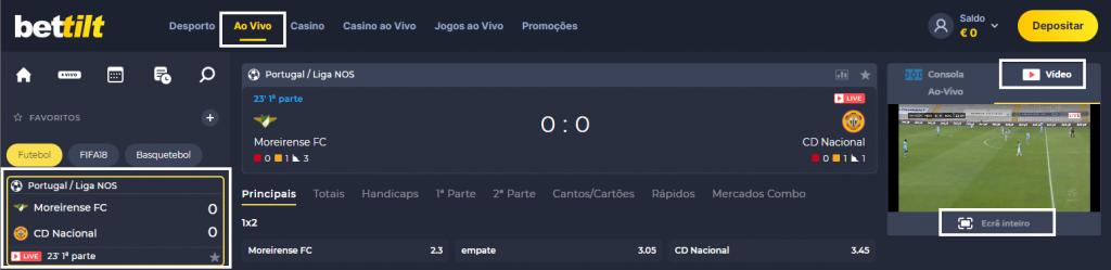 Moreirense Nacional online grátis - Assiste ao jogo com boa qualidade