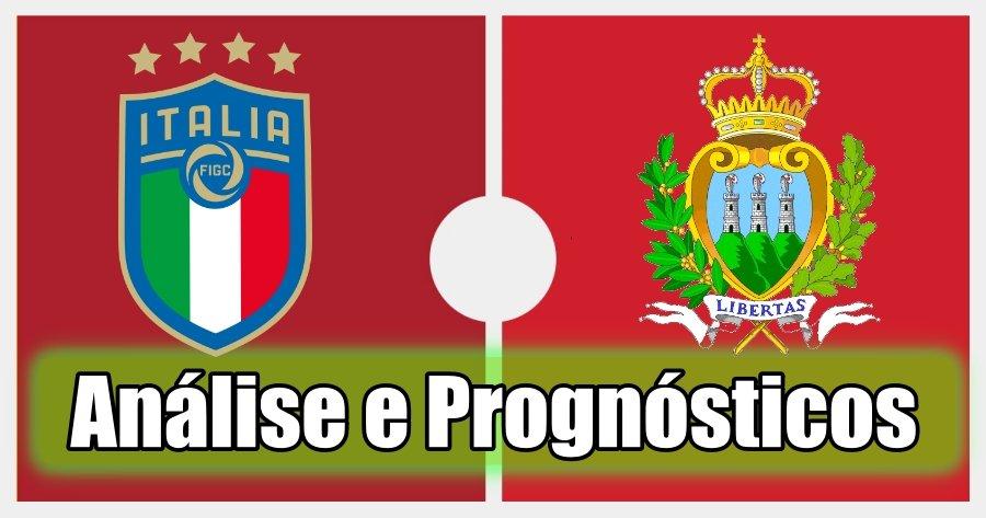 Itália vs São Marino – Análise e Prognósticos – Jogo Amigável