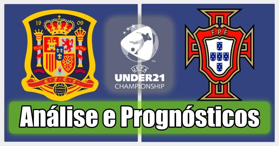 Espanha S21 vs Portugal S21 – Análise e Prognósticos – Campeonato Europeu de Sub21
