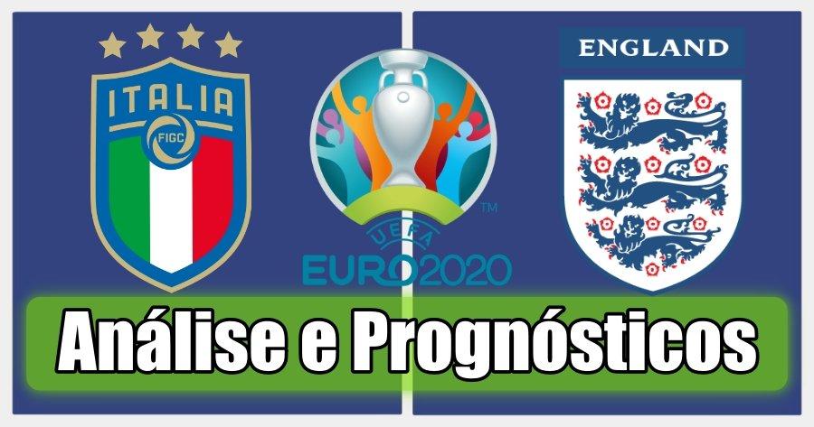 Itália vs Inglaterra – Análise e Prognósticos – Final Campeonato da Europa