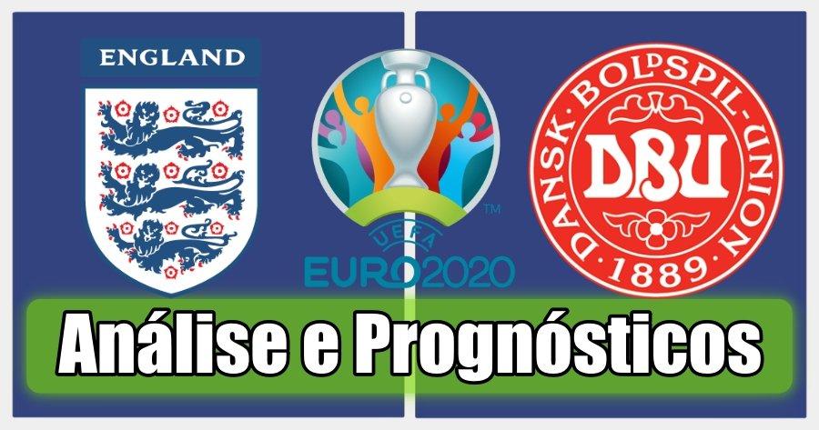 Inglaterra vs Dinamarca – Análise e Prognósticos – Campeonato da Europa